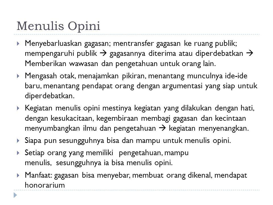 Menulis Opini