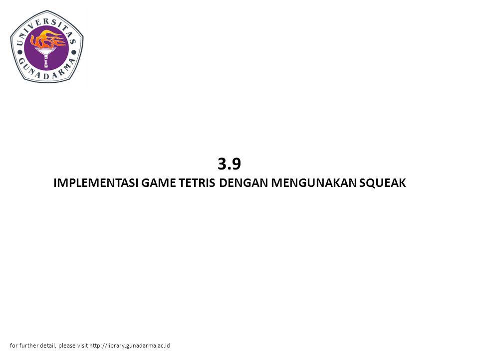 3.9 IMPLEMENTASI GAME TETRIS DENGAN MENGUNAKAN SQUEAK