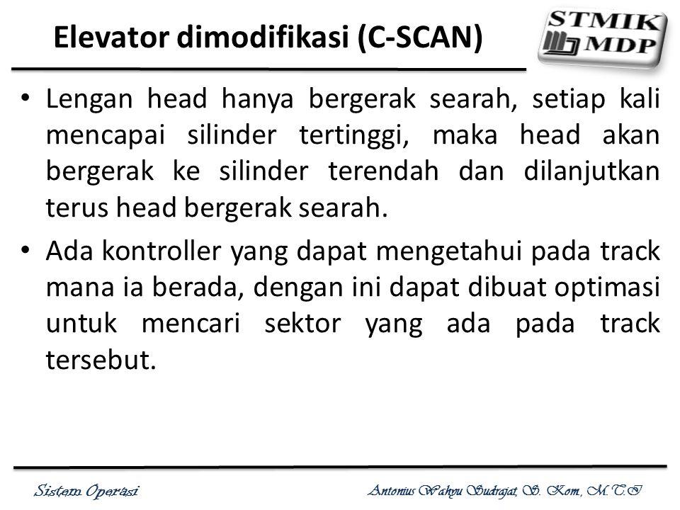 Elevator dimodifikasi (C-SCAN)