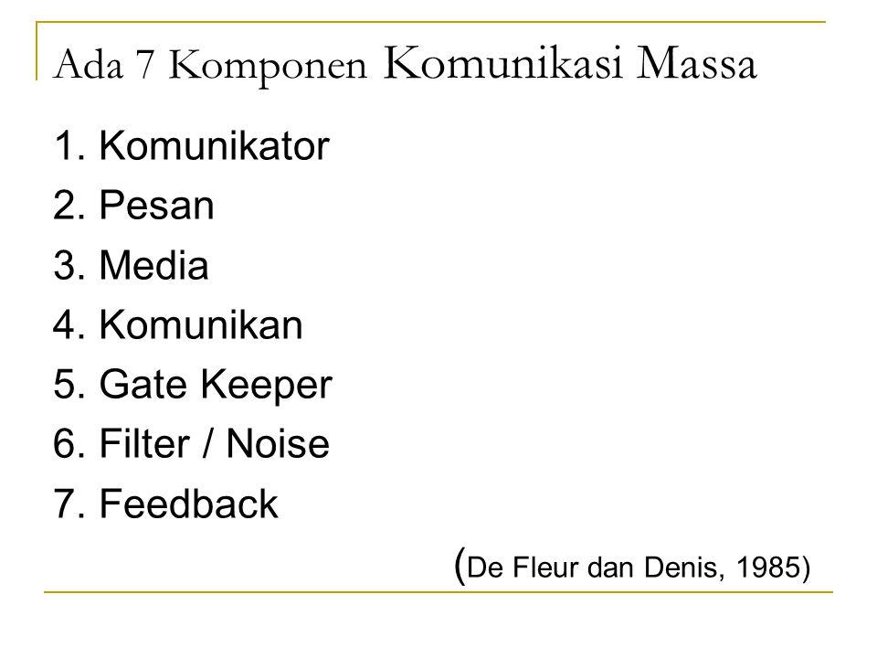 Ada 7 Komponen Komunikasi Massa