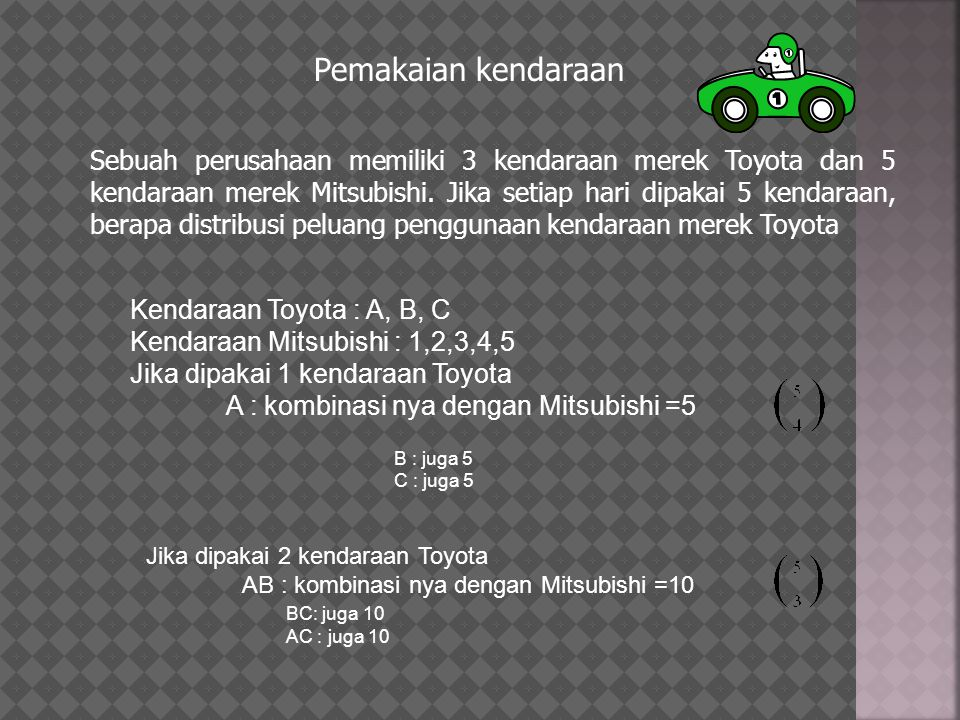 Pemakaian kendaraan