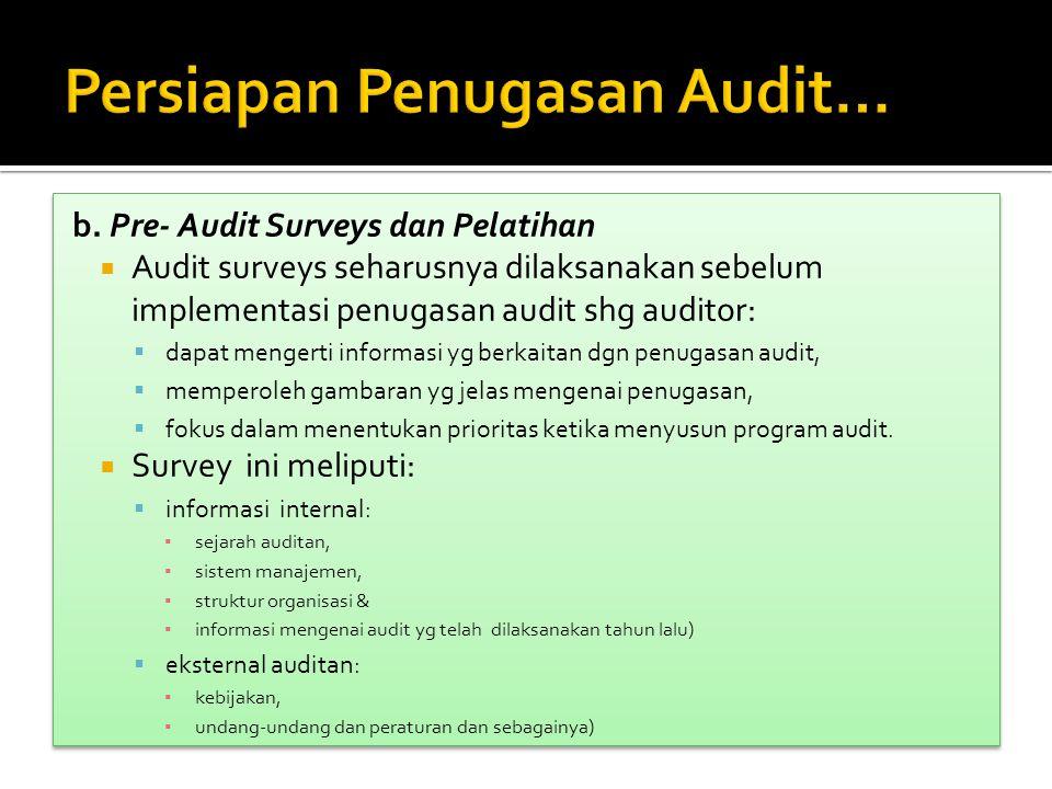 Persiapan Penugasan Audit…