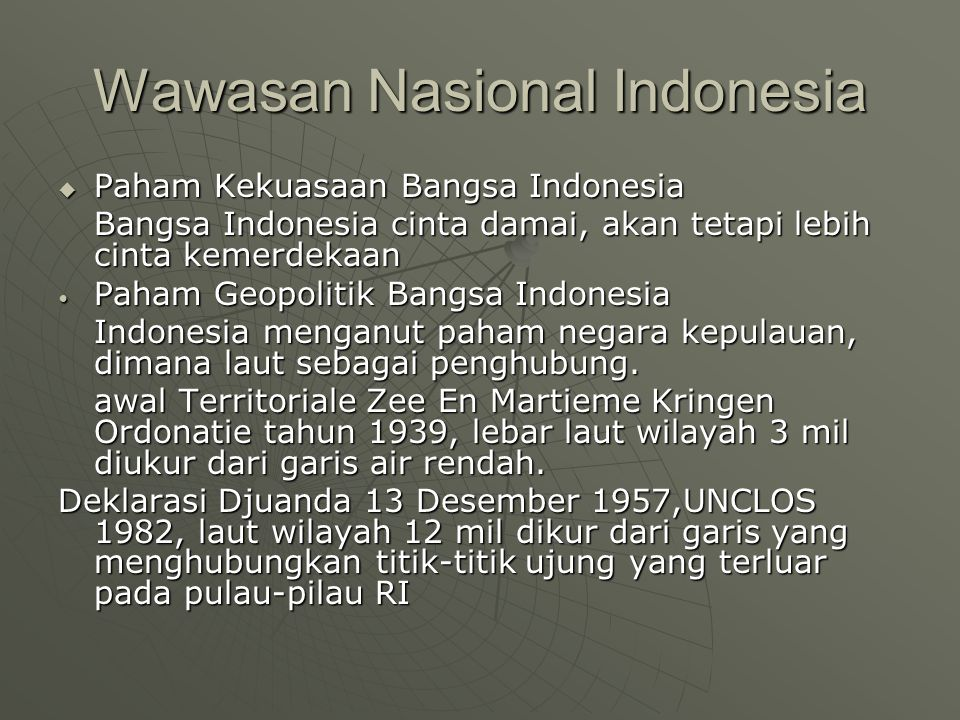 Wawasan Nasional Indonesia