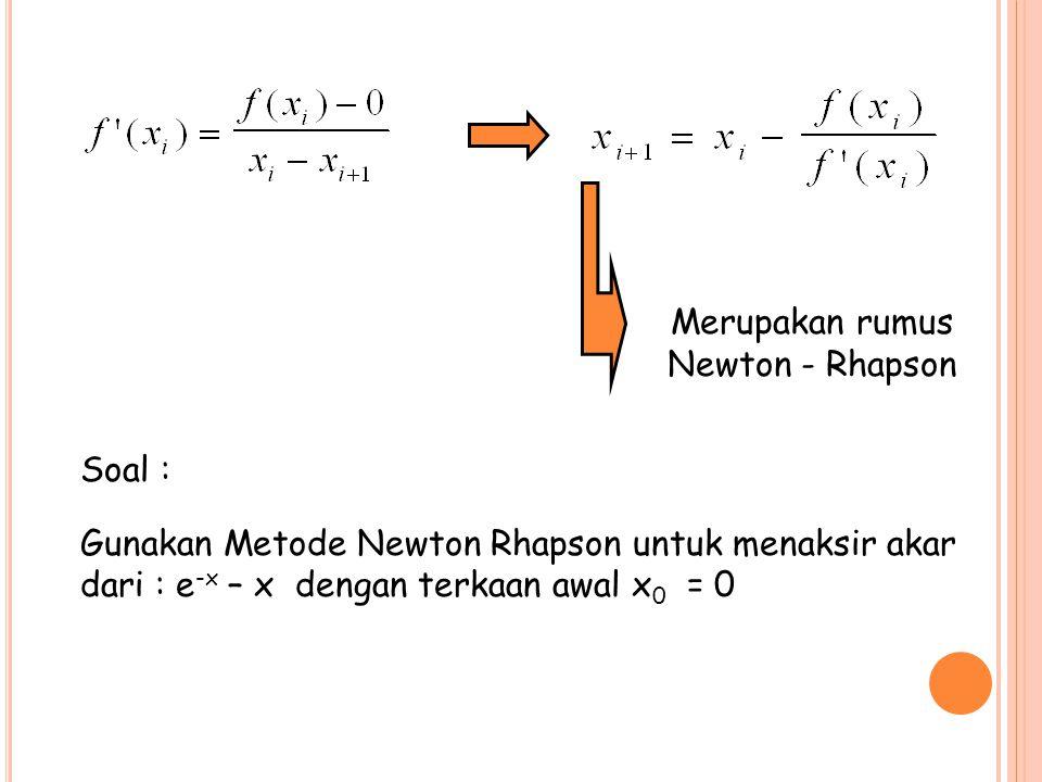 Merupakan rumus Newton - Rhapson