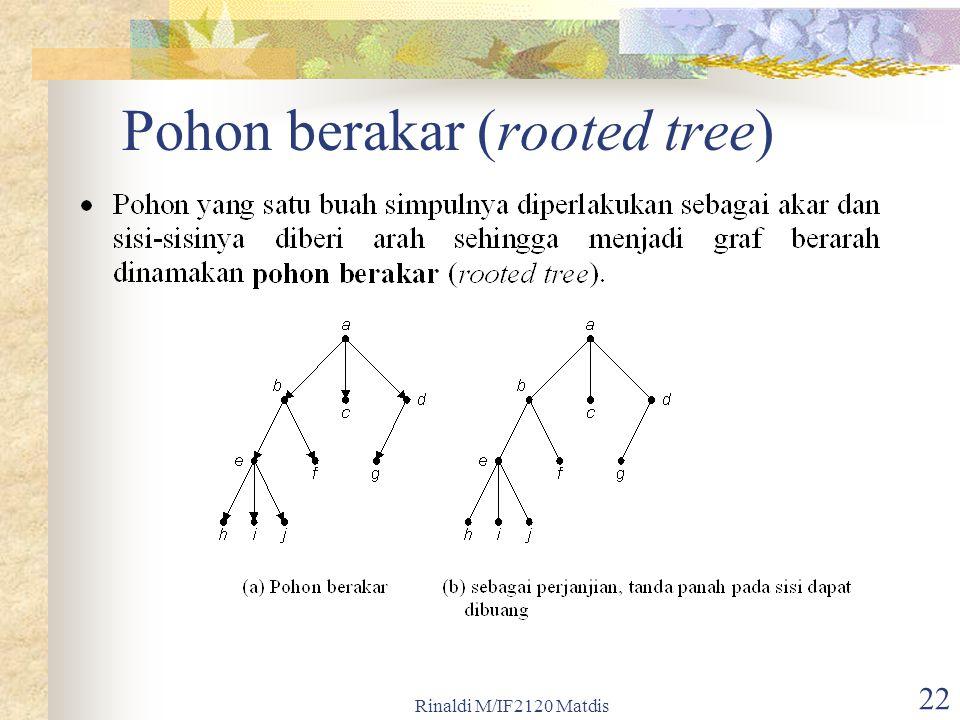 Pohon berakar (rooted tree)