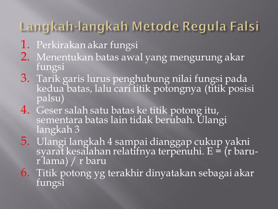 Langkah-langkah Metode Regula Falsi
