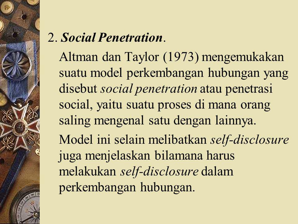 2. Social Penetration.