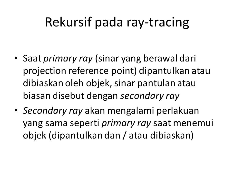 Rekursif pada ray-tracing