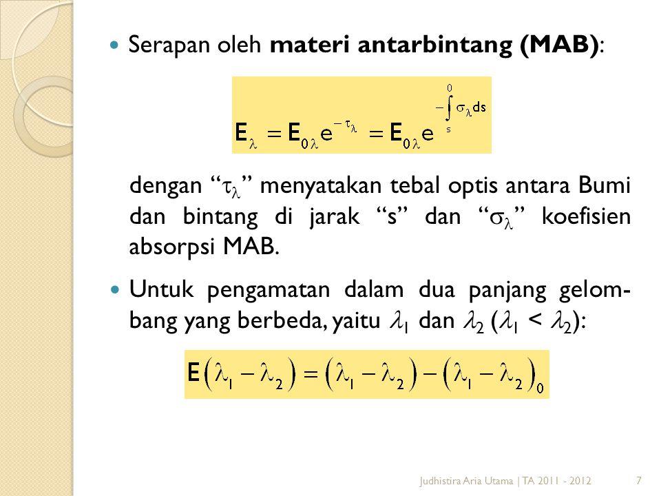 Serapan oleh materi antarbintang (MAB):
