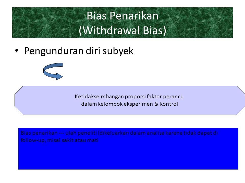 Bias Penarikan (Withdrawal Bias)