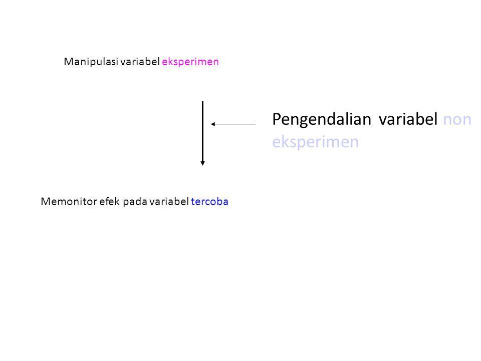 Pengendalian variabel non eksperimen