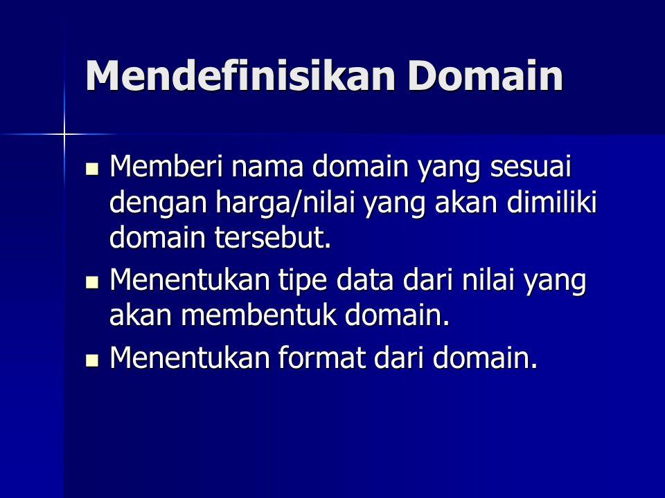 Mendefinisikan Domain