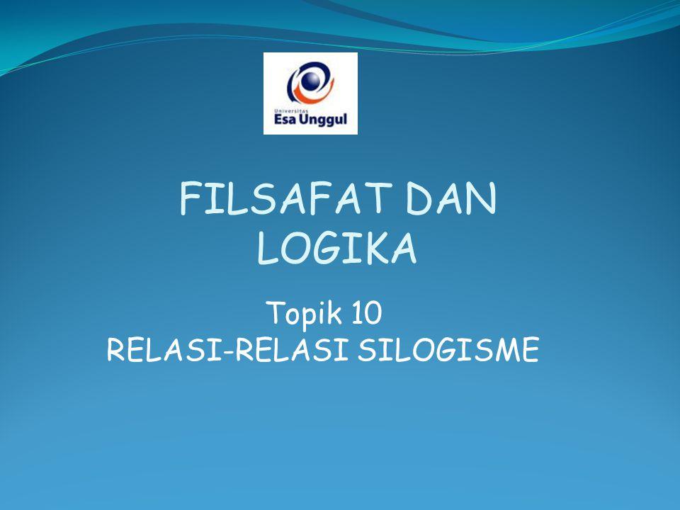 Topik 10 RELASI-RELASI SILOGISME