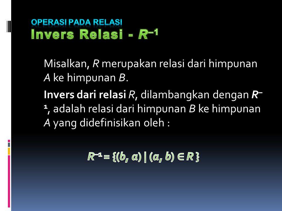 Operasi pada Relasi Invers Relasi - R–1
