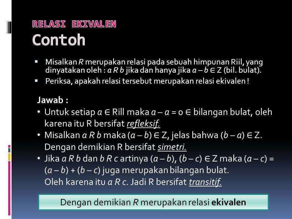 RELASI EKIVALEN Contoh