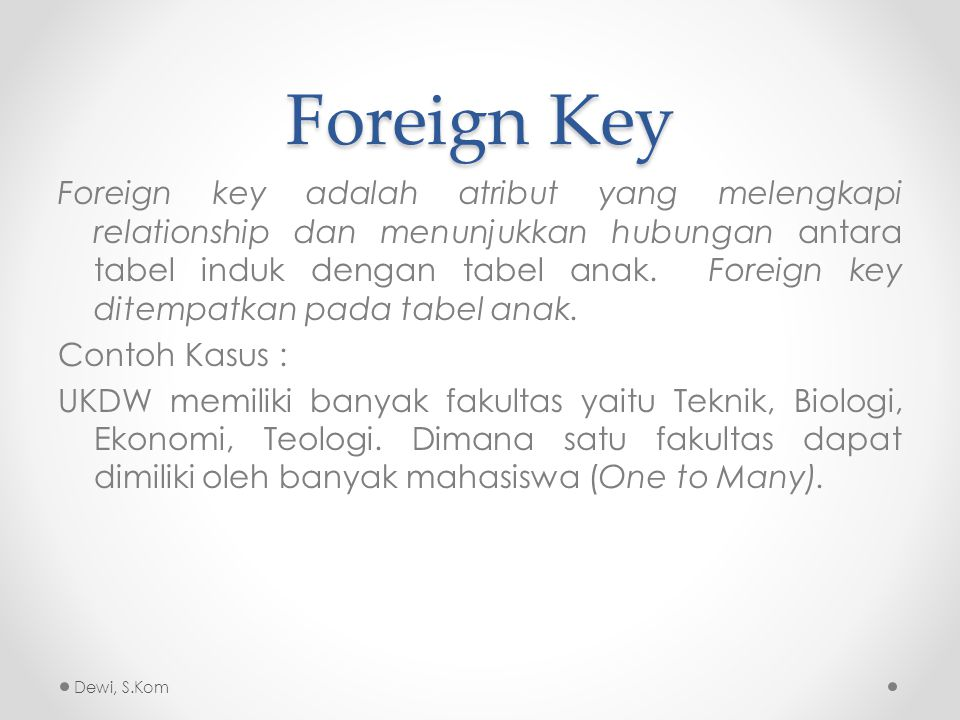 Foreign Key