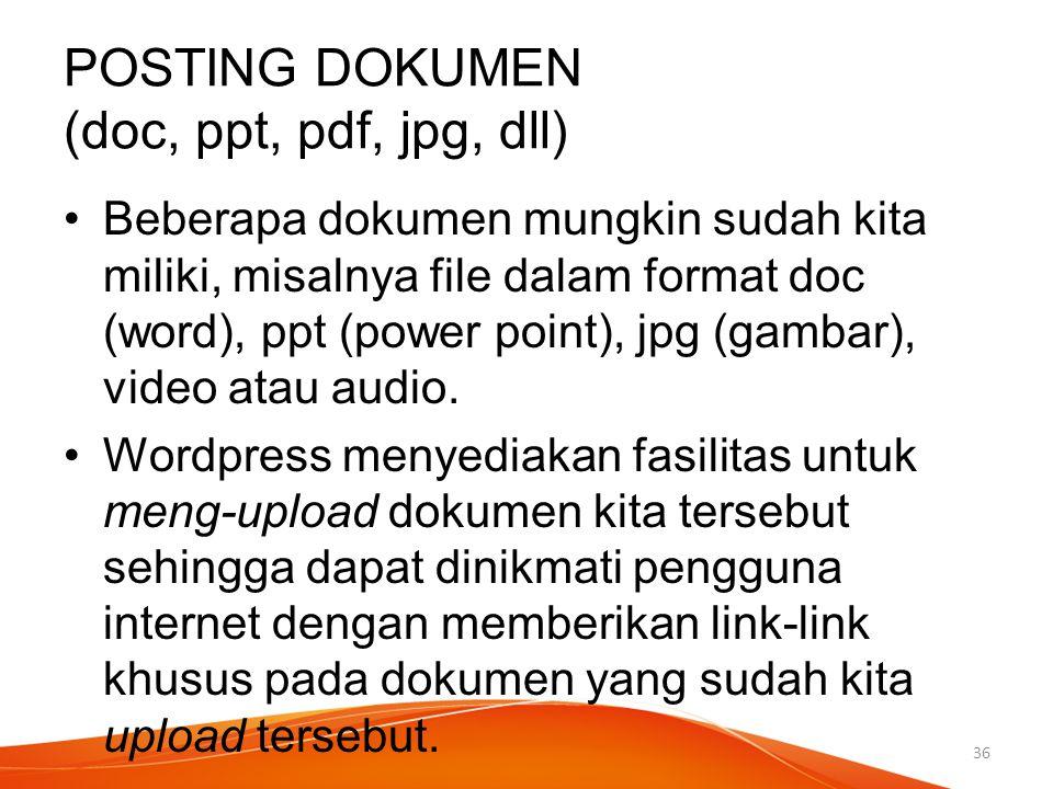 POSTING DOKUMEN (doc, ppt, pdf, jpg, dll)
