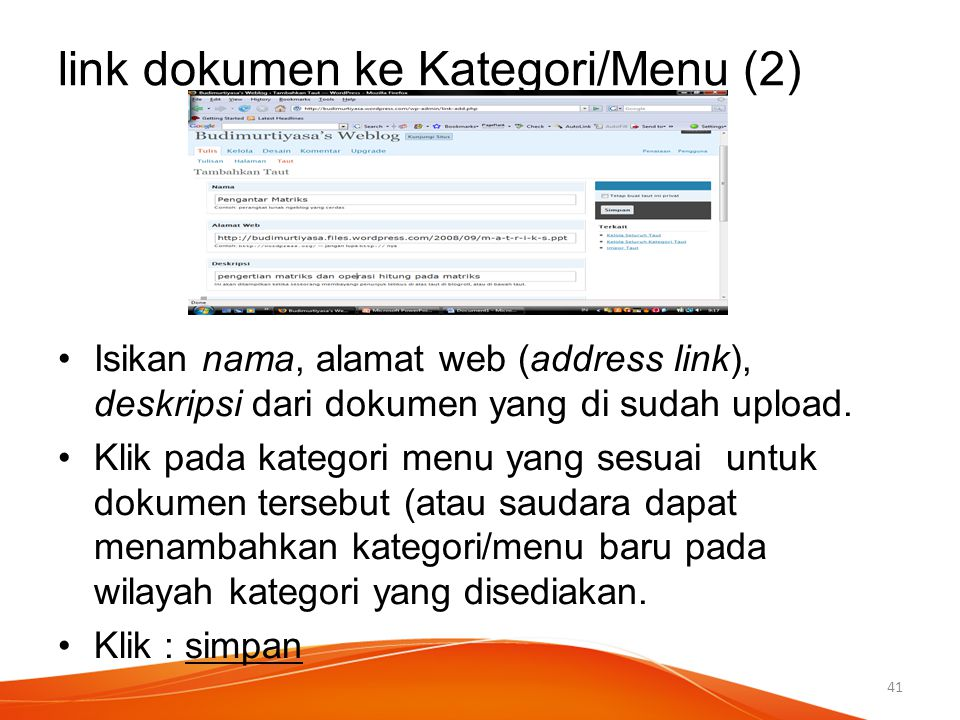 link dokumen ke Kategori/Menu (2)
