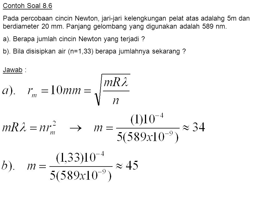 Contoh Soal 8.6