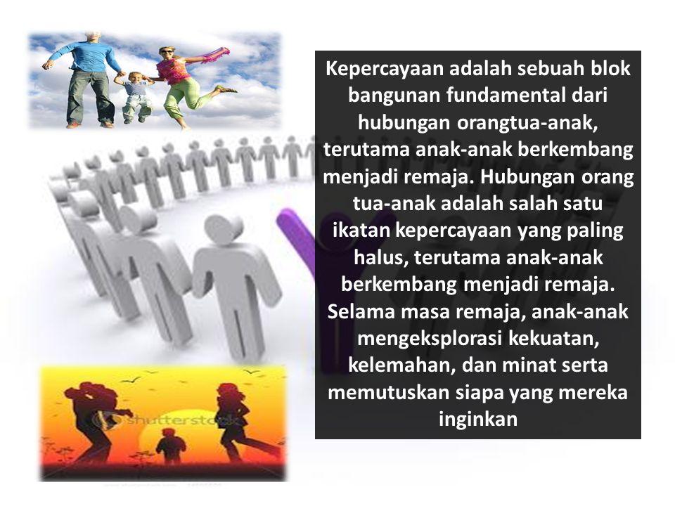 Kepercayaan adalah sebuah blok bangunan fundamental dari hubungan orangtua-anak, terutama anak-anak berkembang menjadi remaja.