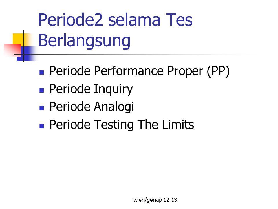 Periode2 selama Tes Berlangsung