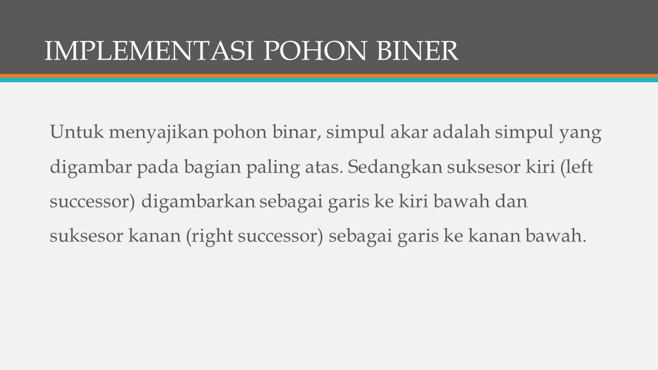 IMPLEMENTASI POHON BINER