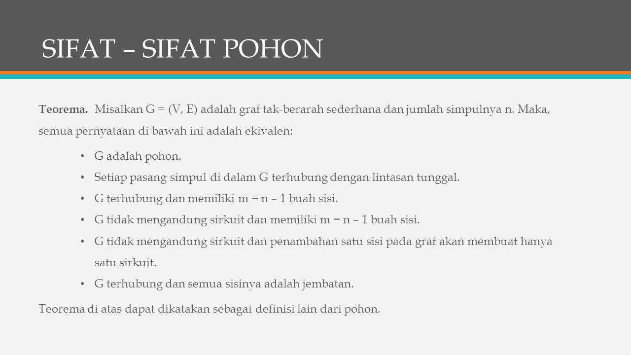 SIFAT – SIFAT POHON