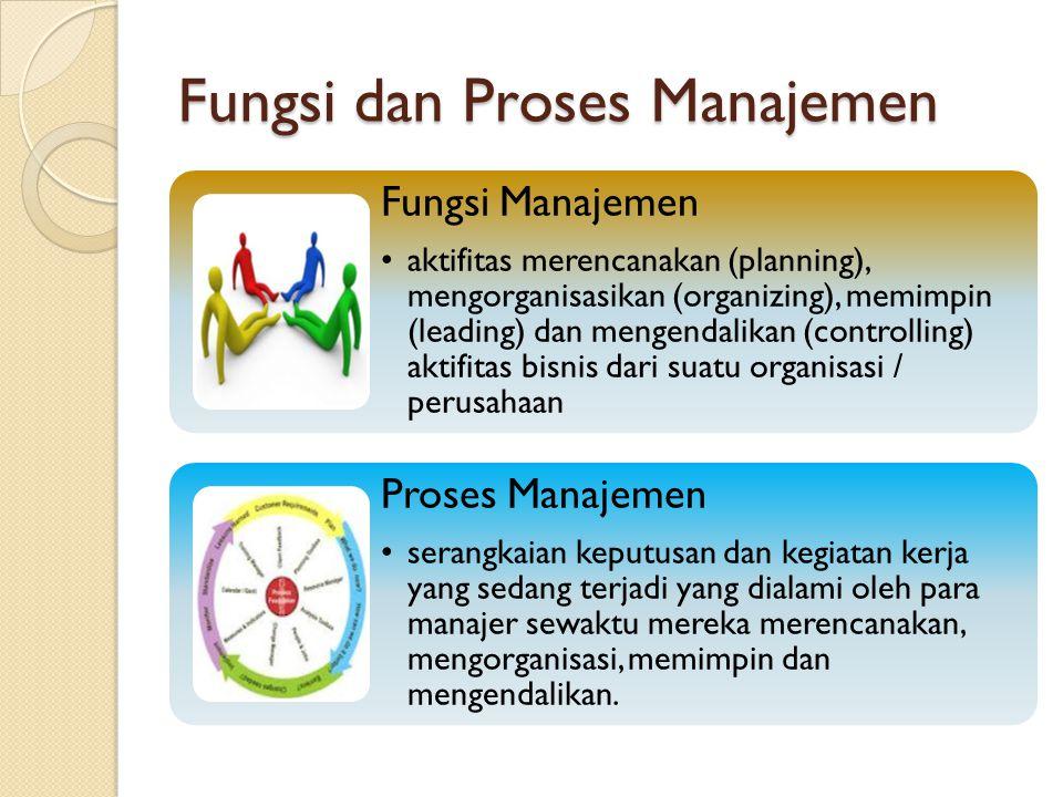 Fungsi dan Proses Manajemen