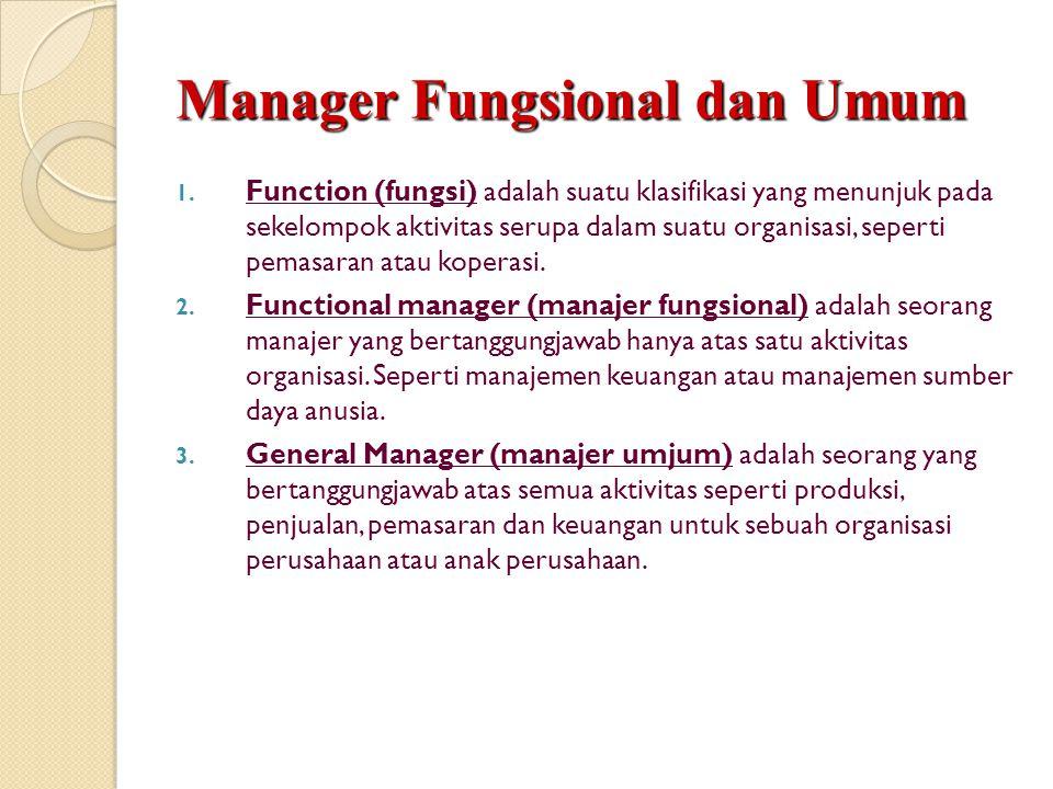 Manager Fungsional dan Umum