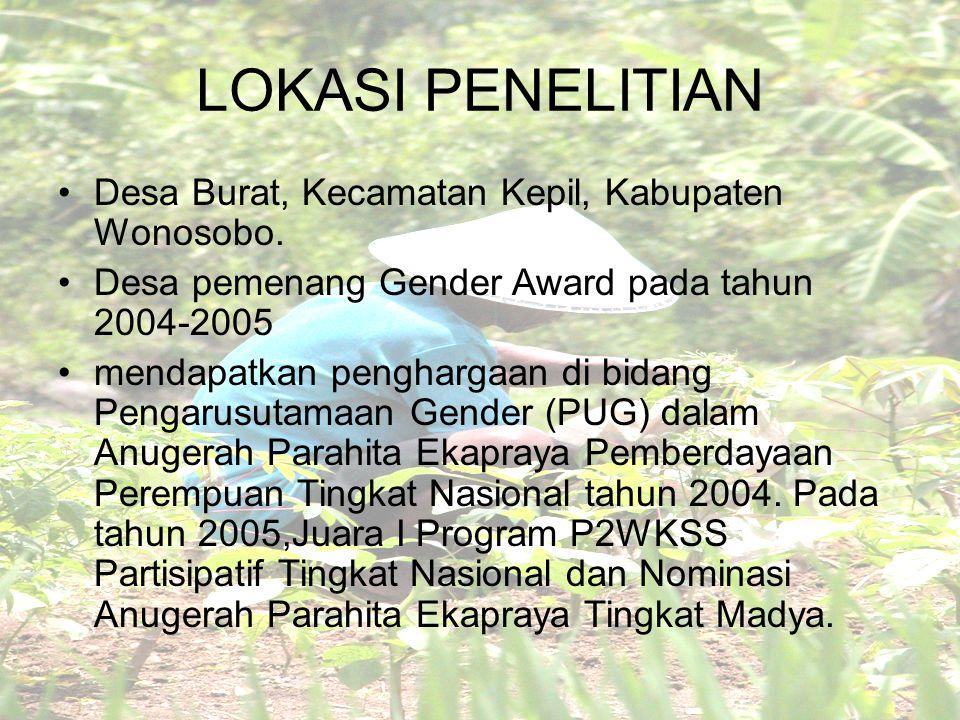 LOKASI PENELITIAN Desa Burat, Kecamatan Kepil, Kabupaten Wonosobo.