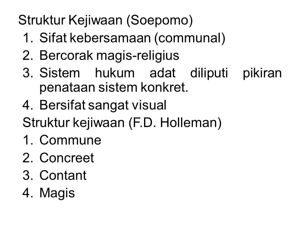 Struktur Kejiwaan (Soepomo)