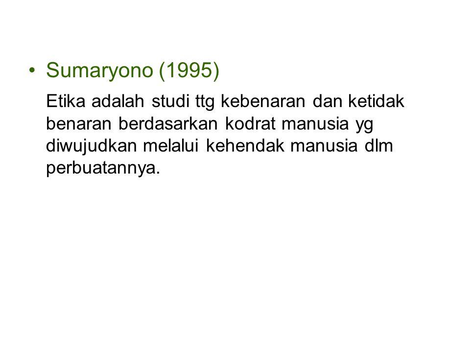 Sumaryono (1995)