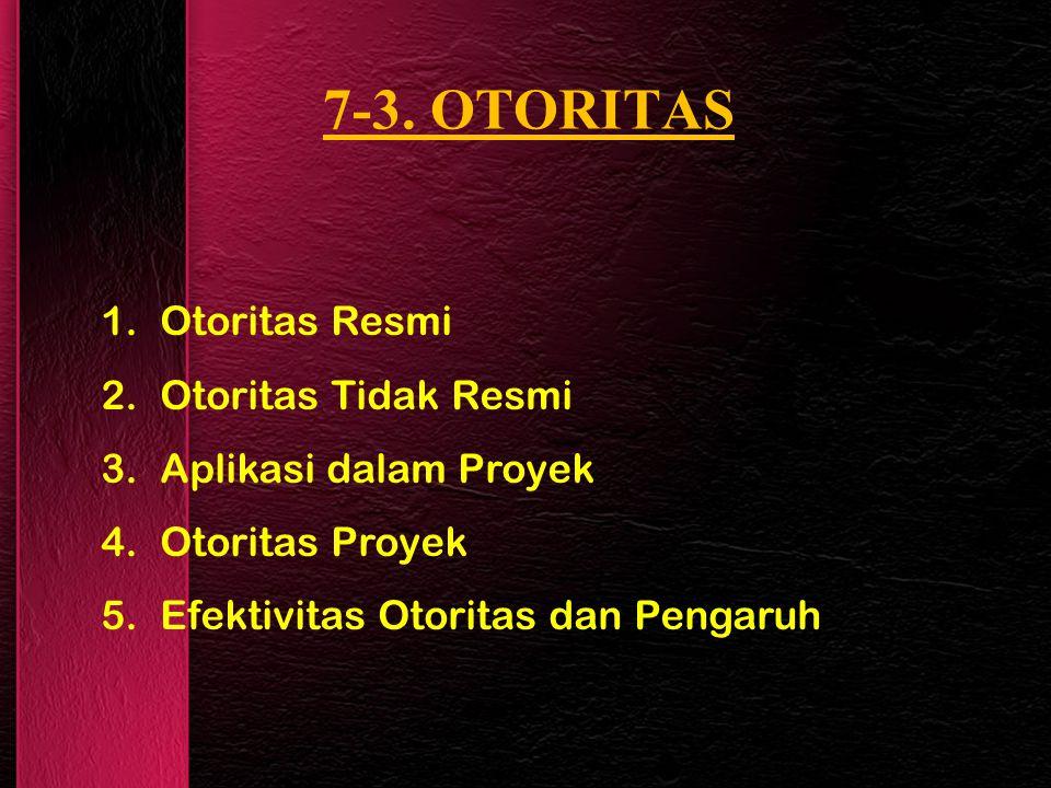 7-3. OTORITAS Otoritas Resmi Otoritas Tidak Resmi