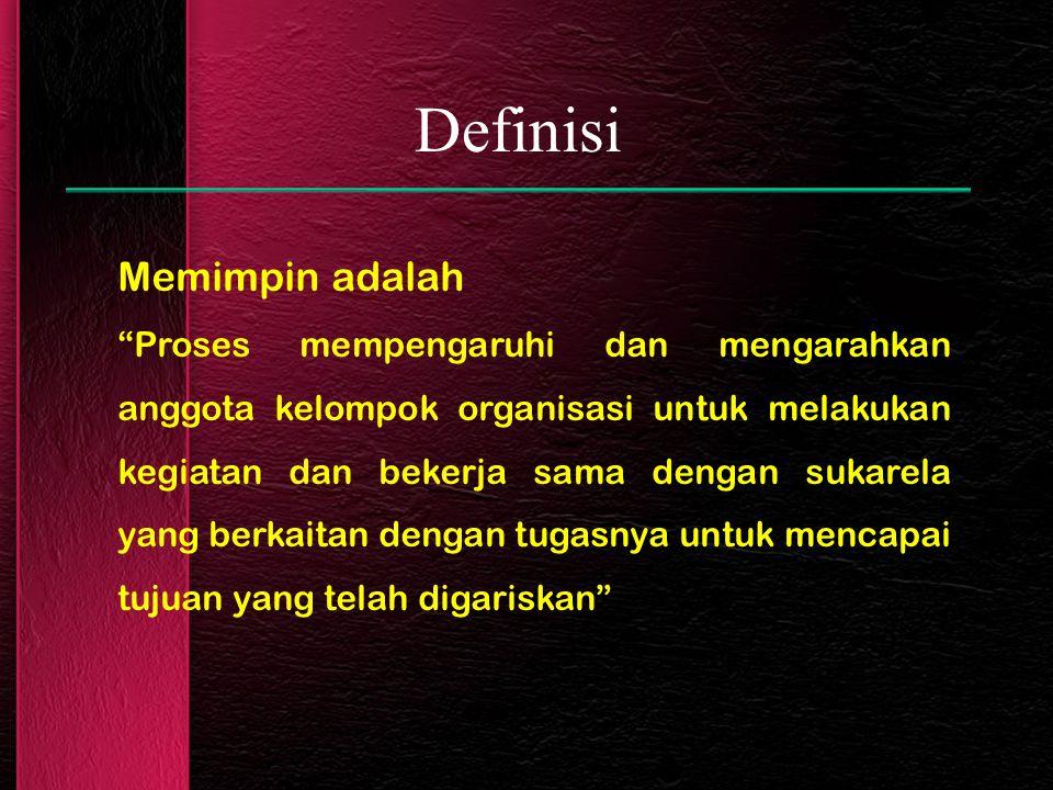 Definisi Memimpin adalah