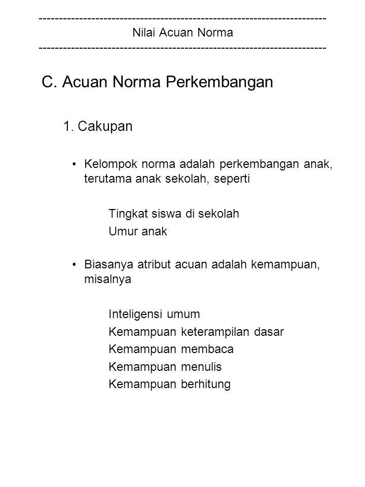 C. Acuan Norma Perkembangan