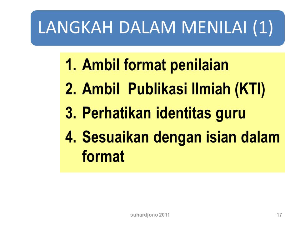 Ambil format penilaian Ambil Publikasi Ilmiah (KTI)