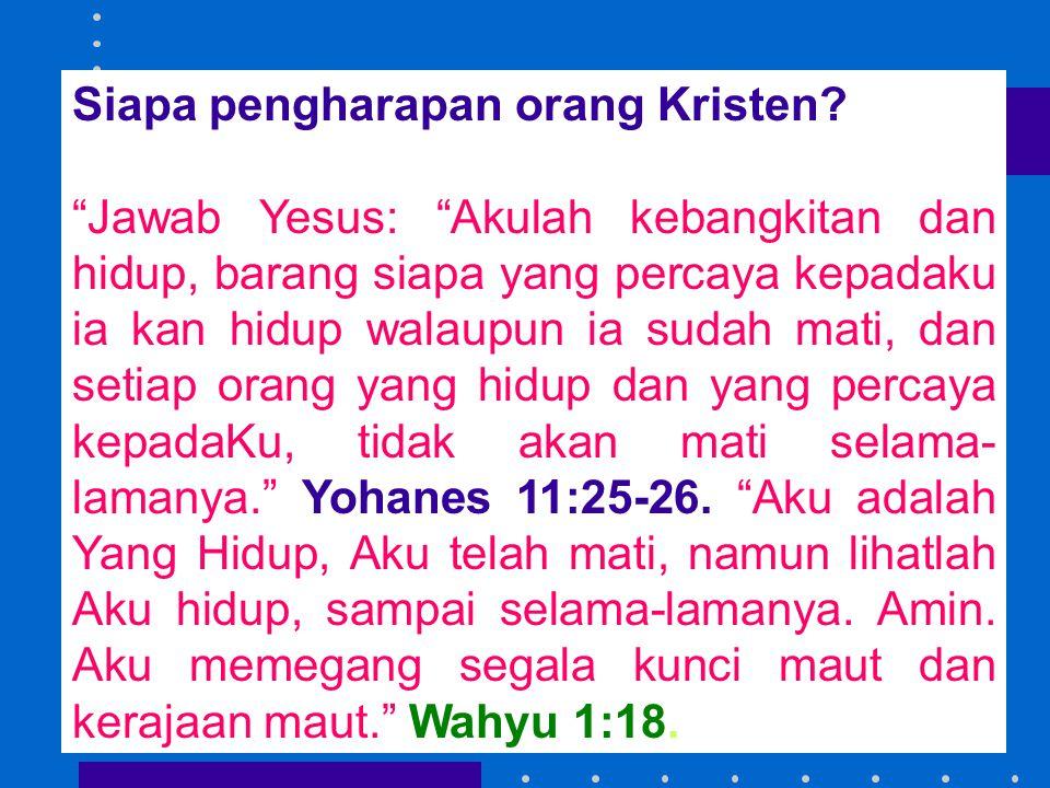 Siapa pengharapan orang Kristen