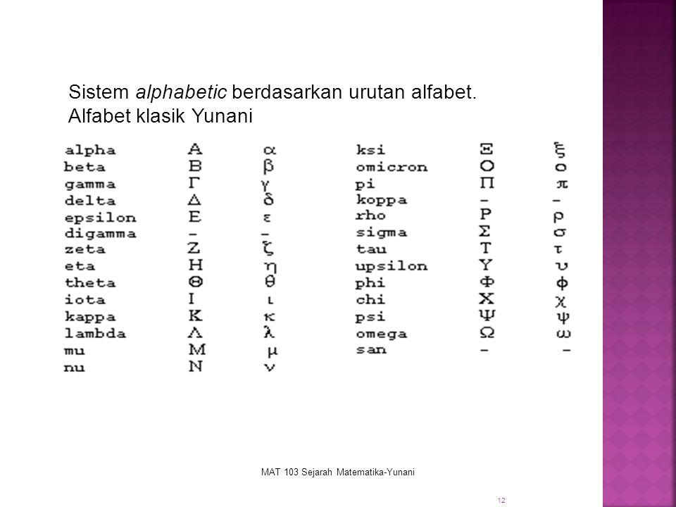 MAT 103 Sejarah Matematika-Yunani
