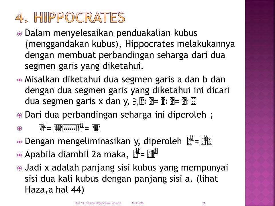 4. Hippocrates