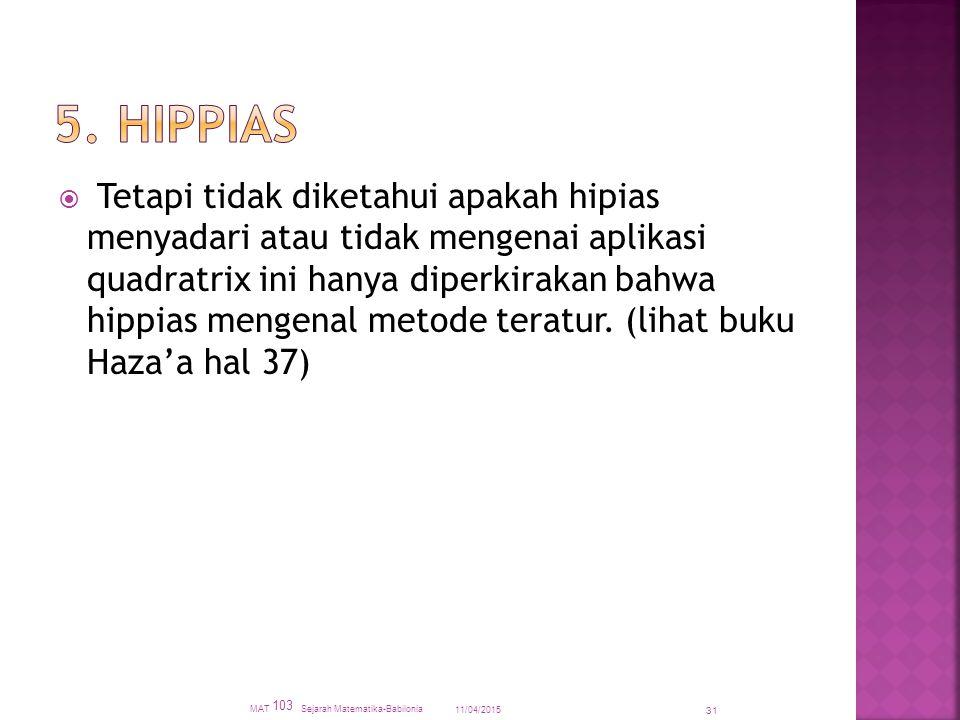 5. HIPPIAS