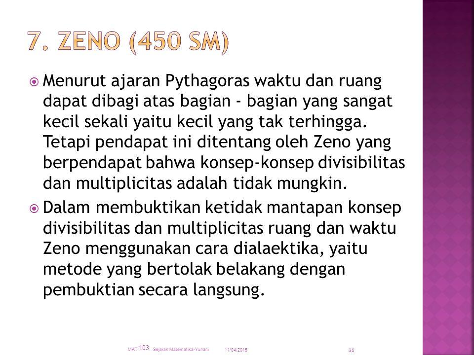 7. Zeno (450 SM)