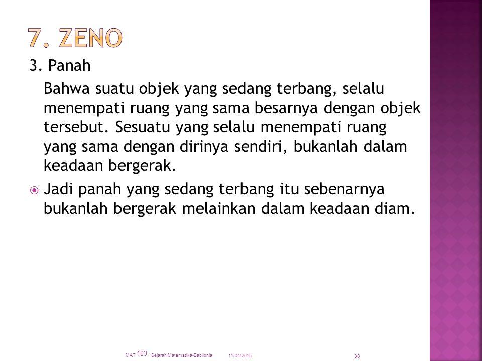 7. Zeno 3. Panah.