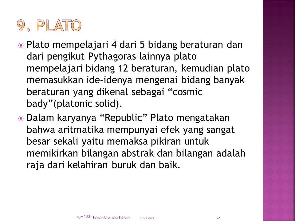 9. Plato