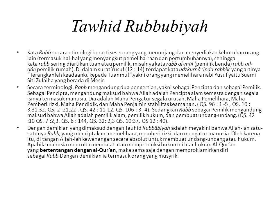 Tawhid Rubbubiyah