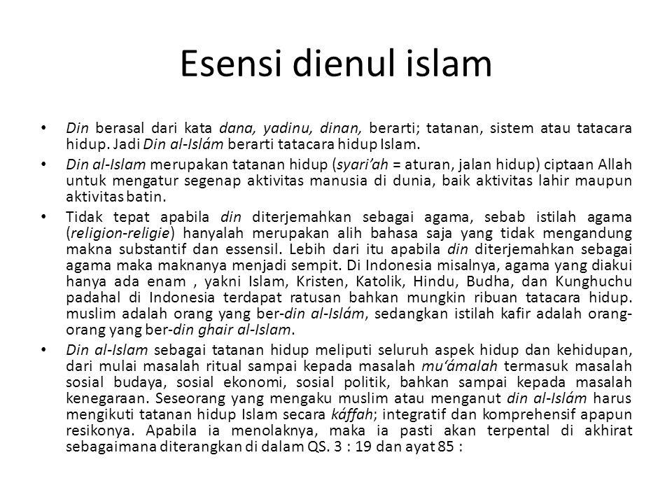 Esensi dienul islam