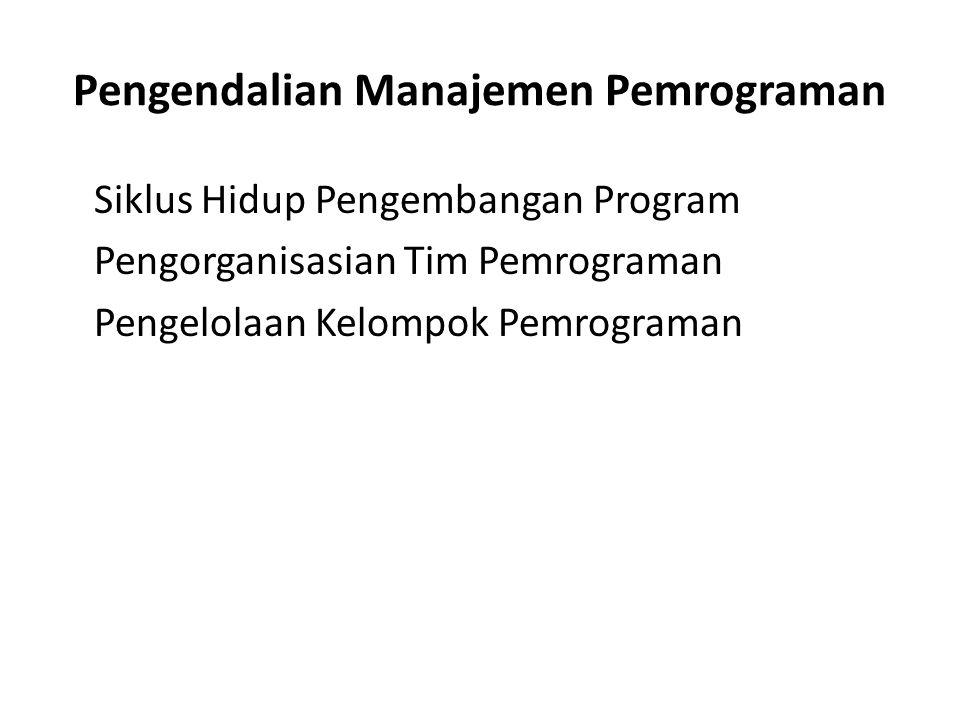 Pengendalian Manajemen Pemrograman