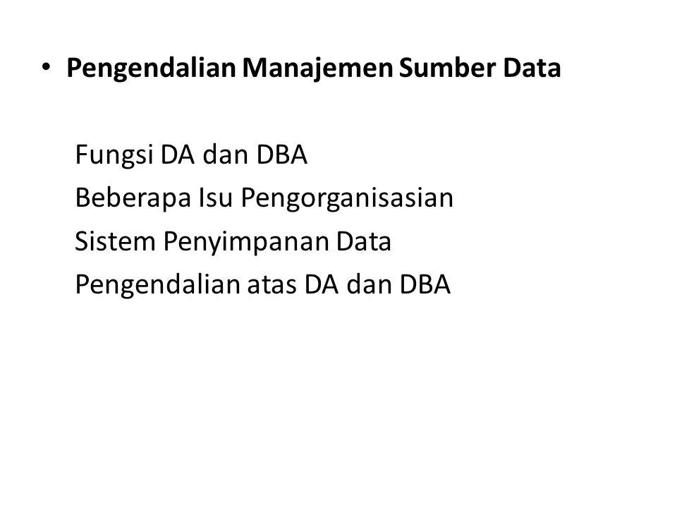 Pengendalian Manajemen Sumber Data