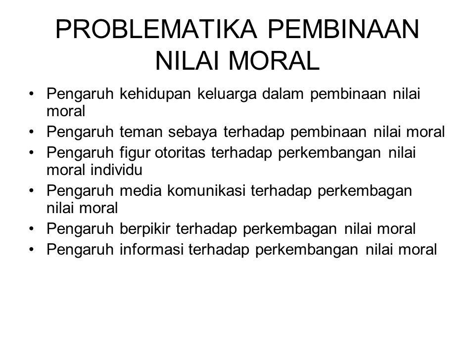PROBLEMATIKA PEMBINAAN NILAI MORAL