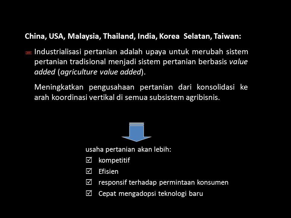 China, USA, Malaysia, Thailand, India, Korea Selatan, Taiwan: