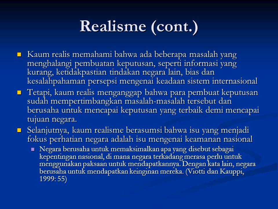 Realisme (cont.)